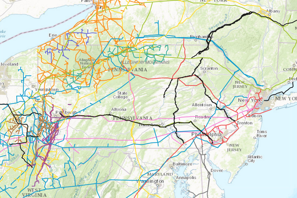 NaturalGas Pipelines Interactive Map Of Pipelines In The United - Us front map