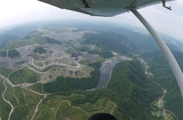 Aerial view of mountaintop remova