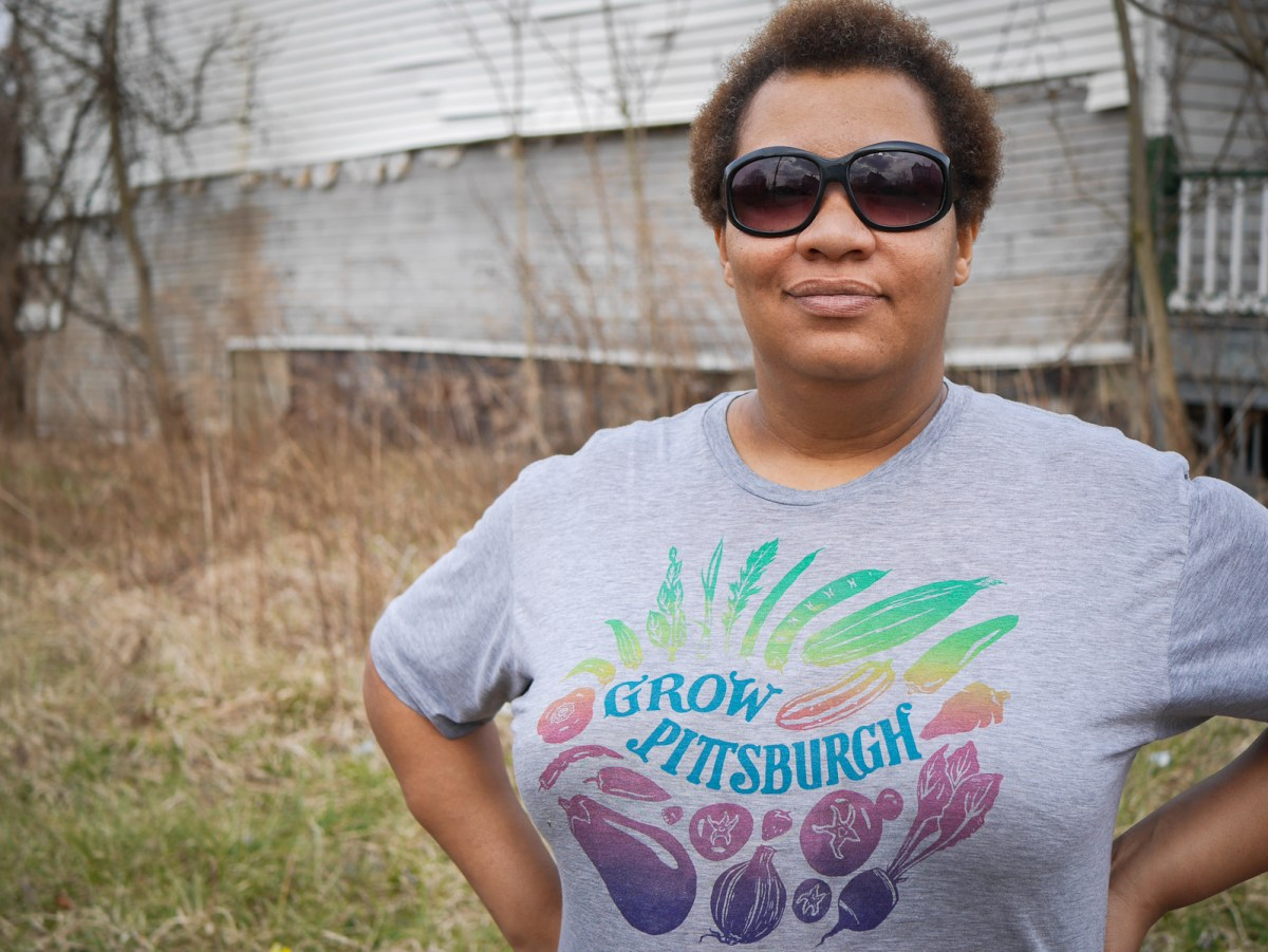Raqueeb Bey of Black Urban Gardeners and Farmers of Pittsburgh.