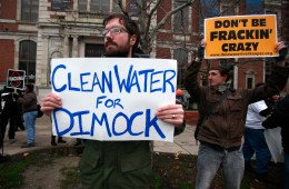 Protestors against Gas Drilling Dimock