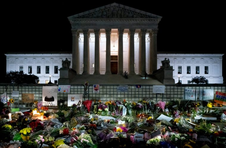 RBG tribute at the Supreme Court