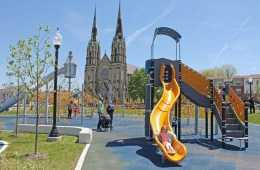 The playground at Liberty Green in Larimer