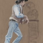 10 minute nu-pastel study from figure drawing class.