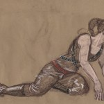 5 minute nu-pastel study from figure drawing class.