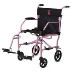 Transport Wheel Chair Modern Leather Lounge Breast Cancer Awareness Pink Ultralight 3 Wheelchair By Medline