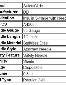 Insulin syringe with needle safetyglide ml gauge inch attached safety also rh allegromedical