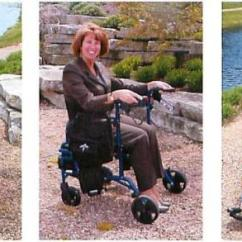 Walker Chair Combo Outside Lawn Chairs Medline Excel Translator Rollator And Wheelchair