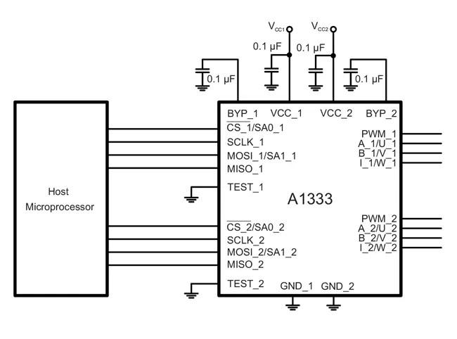 A1333: Precision, High Speed, Hall-Effect Angle Sensor IC