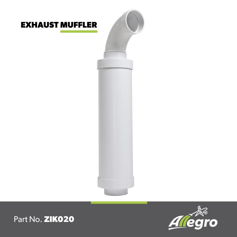beam central vacuum exhaust muffler