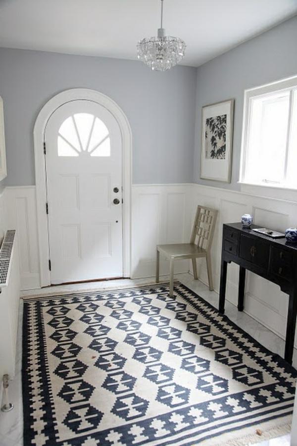 Teppich im Flur Schne Interieur Vorschlge fr Ihren Eingangsbereich