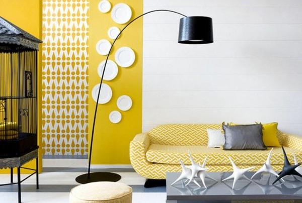 Wohnzimmer Gelb Rosa