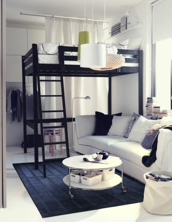 Wohnlandschaft mit Bettfunktion  Ein kleines Ambiente ausstatten