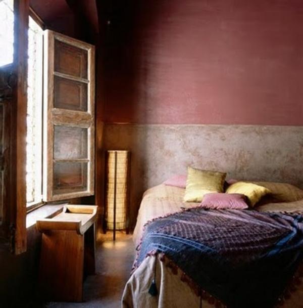 Altrosa Wandfarbe verleiht dem Ambiente Zrtlichkeit