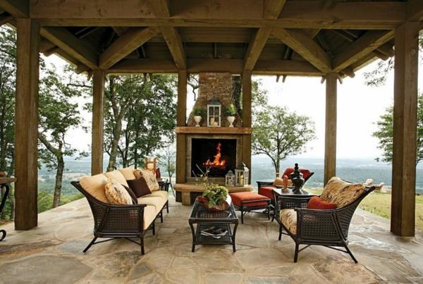 Terrassenberdachung aus Holz  Kmmern Sie sich um die