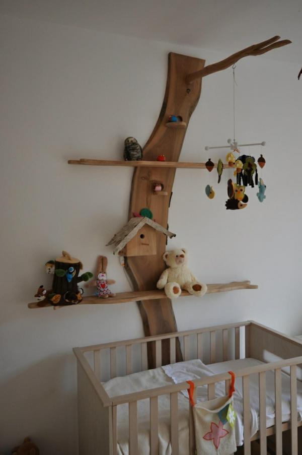 Babyzimmer gestalten mit offenen Regalen  Ordnung und