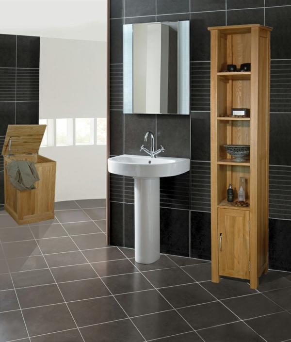Badezimmer Grau Fliesen