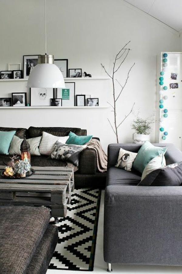Einrichtungsideen frs Wohnzimmer  Schlichte und elegante Lsungen