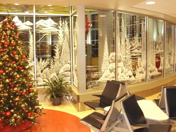 Fensterdeko fr Weihnachten vermittelt eine tolle Feststimmung