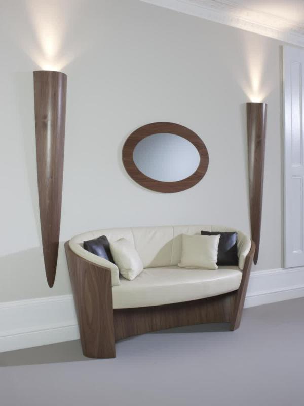 Moderne Wandlampen fhren einen sitlvollen Effekt in den Raum ein