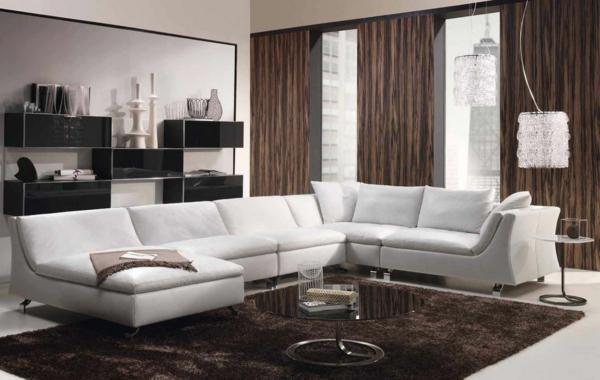 Gardinen Modern Wohnzimmer Braun Modernes Wohnzimmer Mit Einem ... Gardinen Modern Wohnzimmer Braun