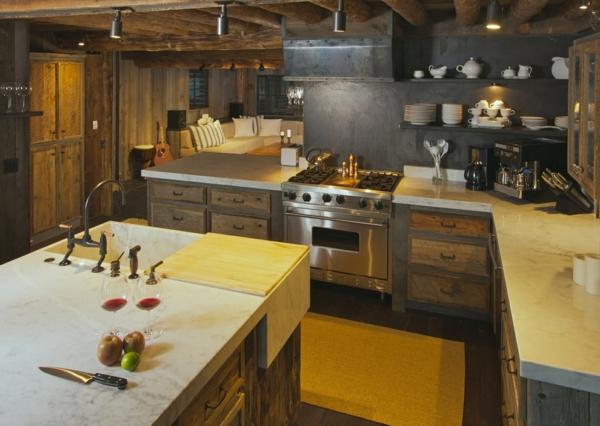 Moderne Kuche Mit Wohnzimmer