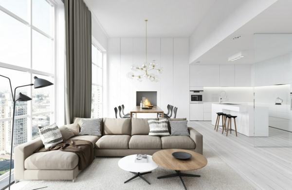 offene kuche wohnzimmer esszimmer noveric for | sichtschutz