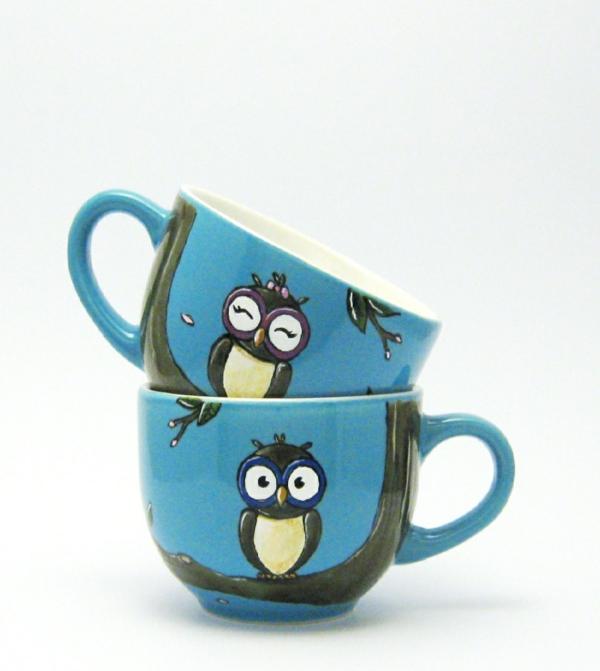 Tassen bemalen fr eine frhliche Stimmung beim Kaffee Trinken