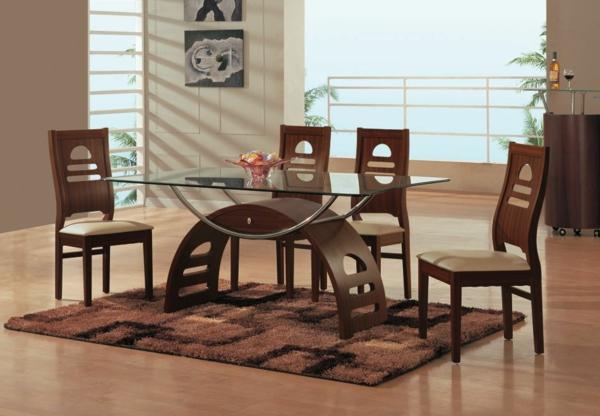 chairs kitchen spices glastisch für die einrichtung ihres esszimmers - pro und ...