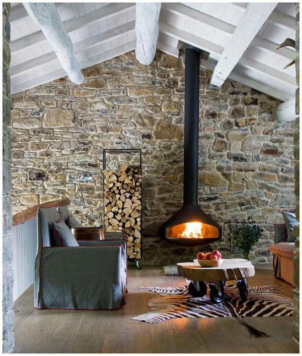 Steinwand Wohnzimmer  Ein frischer Hauch in Ihrem Zuhause