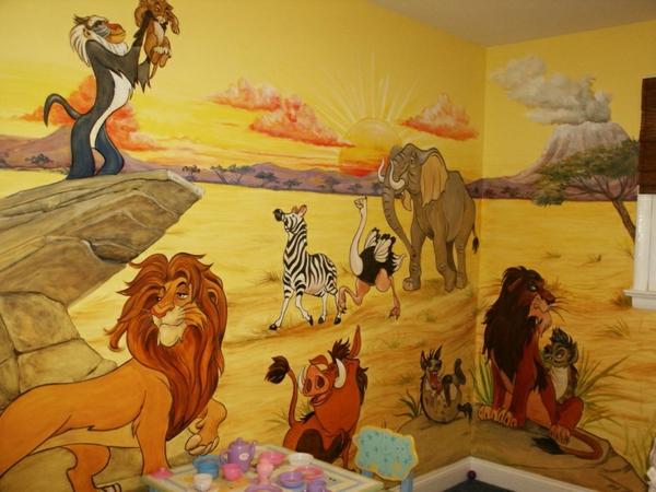 Wandmalerei im Kinderzimmer  Ein entzckendes Ambiente