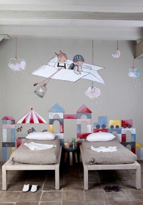 Wandmalerei im Kinderzimmer  Ein entzckendes Ambiente erschaffen