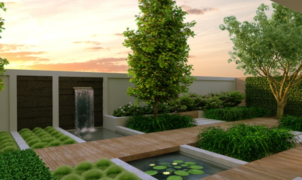 Garten modern gestalten nach den neuesten Trends fr 2015