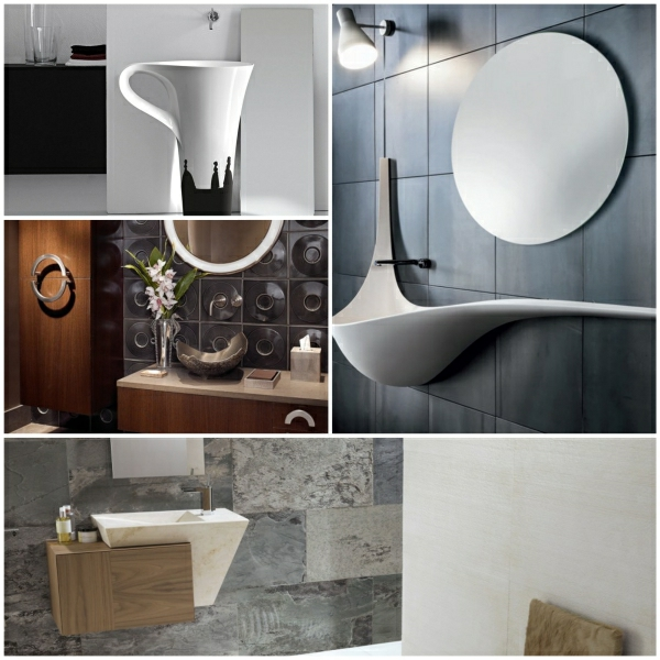 Moderne Waschbecken fr eine kreative Badezimmergestaltung
