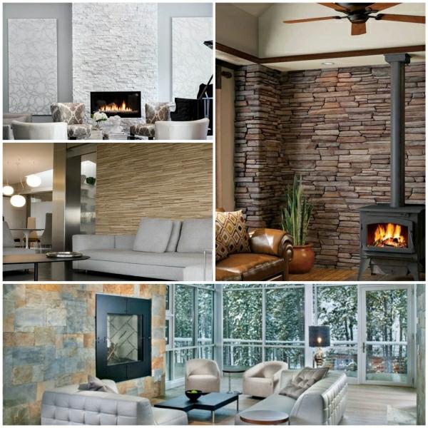 wohnzimmer steinwand beleuchtung. Black Bedroom Furniture Sets. Home Design Ideas