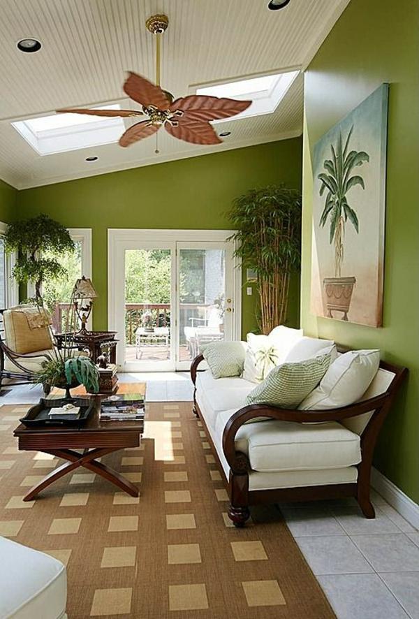 Wohnideen Wohnzimmerein ruhiges Gefhl durch die Farbe