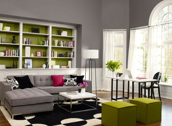 wohnzimmer grau gelb inspirierende bilder von wohnzimmer ... - Wohnzimmer Grau Grn