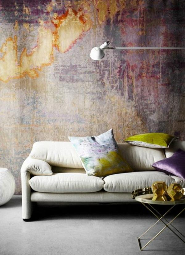 Kreative Wandgestaltung Mit Wasserfarben Fr Ein