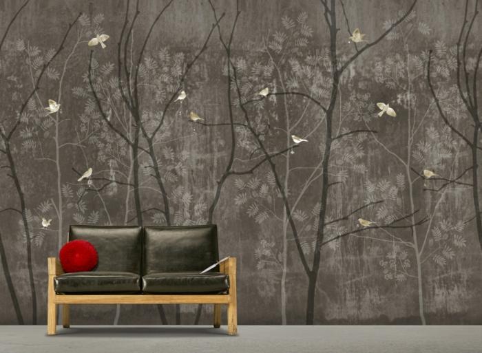 wall paper for living room small decor ideas south africa wohnzimmer tapeten ideen - die rückkehr der tapete