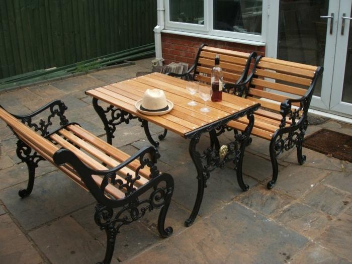 iron table and chairs set kids walmart gartenmöbel aus gusseisen für eine edle gartenatmosphäre