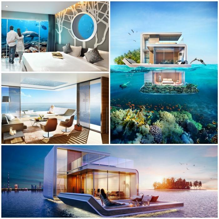 Luxushuserhalb unter Wasser werden bald Realitt