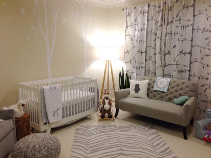 Babyzimmer gestalten  neutrale Farben passen fr Mdchen