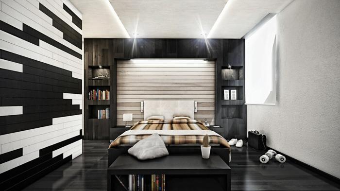 Komplettes Schlafzimmer in SchwarzWei