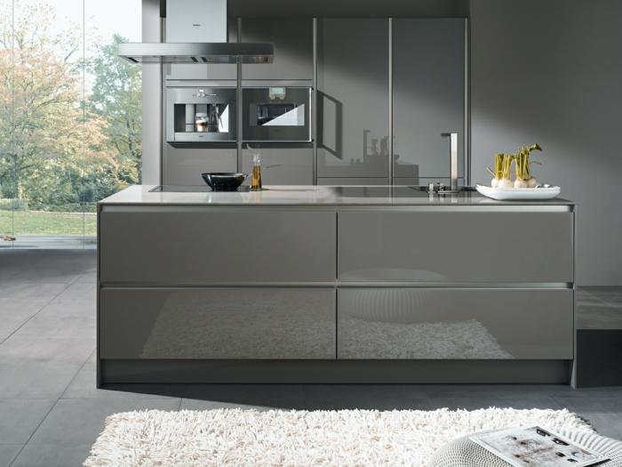 gray kitchen mat black pull down faucet moderne küchen in edlen graunuancen!
