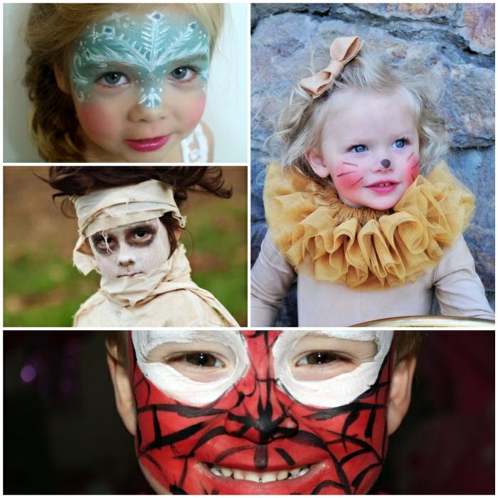 Halloween Schminkideen fr gruselige Kindergesichter