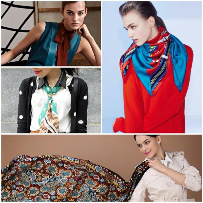 Halstuch binden je nach den Trends fr den Herbst