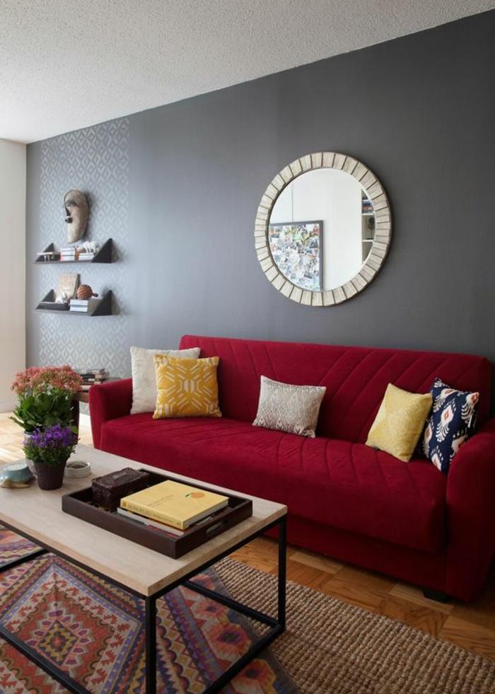wohnzimmer rot - die moderne wohnzimmer farbe - freshouse ... - Wohnzimmer Farblich Gestalten In Rot