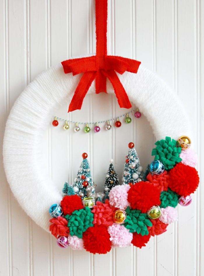 Weihnachtskranz basteln  32 inspirierende Bastelideen fr
