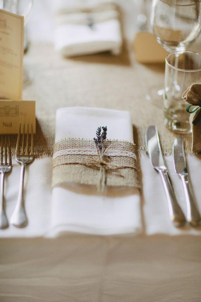 Servietten Falten Hochzeit  40 Ideen fr einen schn