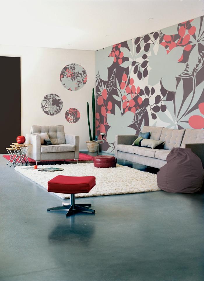 living room art wall with leather couch ideas wandgestaltung wohnzimmer - mutige und moderne wahl!