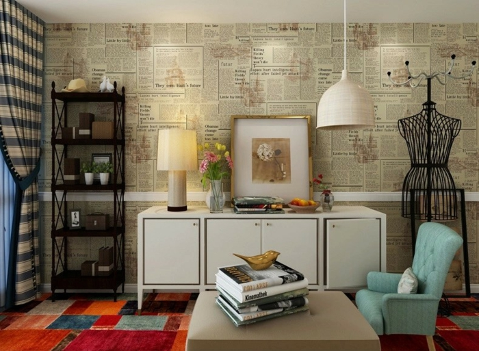 Wandgestaltung frs Wohnzimmer  36 kreative und ideenreiche Beispiele